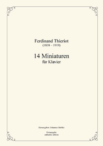 Thieriot, Ferdinand: 14 miniatures for piano
