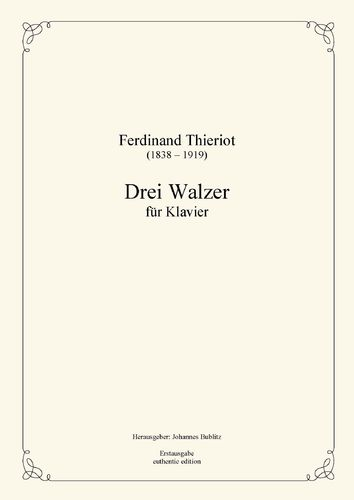 Thieriot, Ferdinand: Three Waltzes for Piano