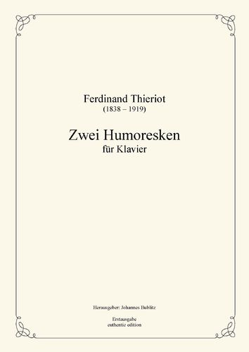 Thieriot, Ferdinand: Two Humoresques for piano