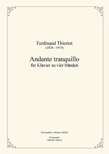 Thieriot, Ferdinand: Andante tranquillo for piano four hands (full score)