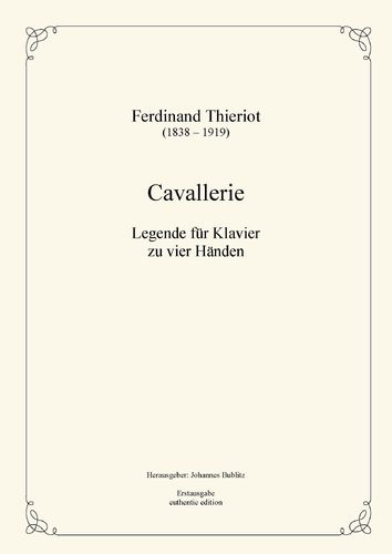 Thieriot, Ferdinand: Cavallerie for piano four hands (full score)
