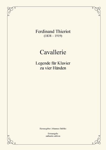 Thieriot, Ferdinand: Cavallerie for Piano four hands (four-handed layout)