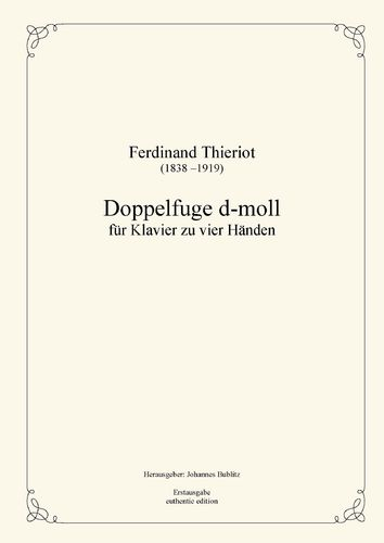 Thieriot, Ferdinand: Double Fugue for Piano four hands (full score)