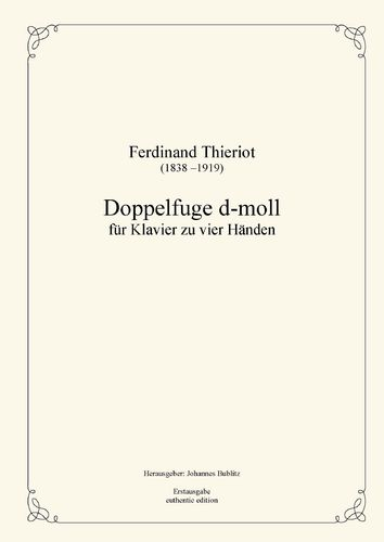 Thieriot, Ferdinand: Double fugue for Piano four Hands (four-handed layout)