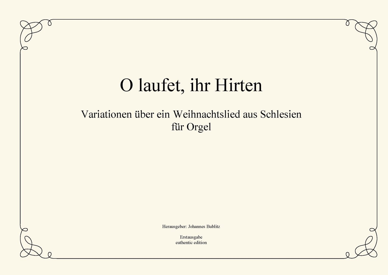 """Anonymus: """"O laufet, ihr Hirten"""" - Variationen über ein ..."""