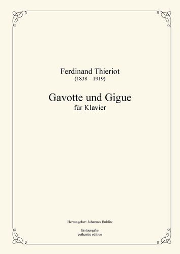 Thieriot, Ferdinand: Gavotte and Gigue for Piano