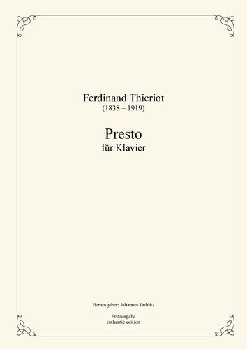 Thieriot, Ferdinand: Presto for Piano