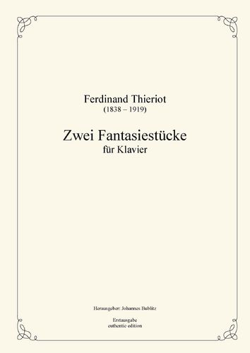 Thieriot, Ferdinand: Two Fantasy Pieces for Piano