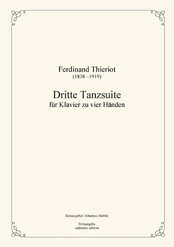 Thieriot, Ferdinand: Third Dance Suite for Piano four Hands  (full score)