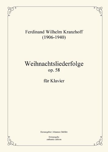 Kranzhoff, Ferdinand Wilhelm: Medley of Christmas carols op. 58 for piano