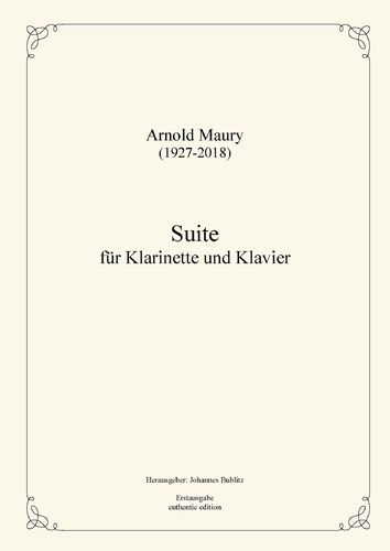 Maury, Arnold:  Suite for clarinet and piano