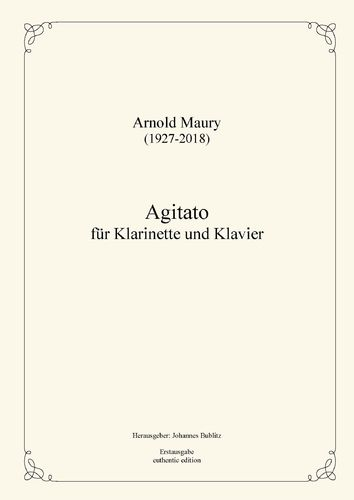 Maury, Arnold: Agitato for clarinet and piano