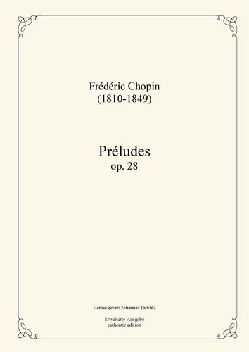 Chopin, Frédéric: Préludes op. 28.6 for piano (with original titles from the composer)